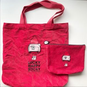 Innisfree x Sticky Lab Monster Eco Bag and Pouch
